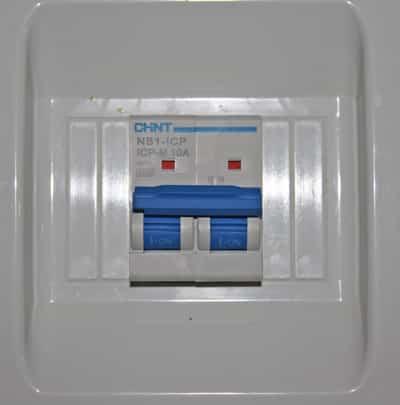 ICP analógico de 10A montado en cuadro eléctrico