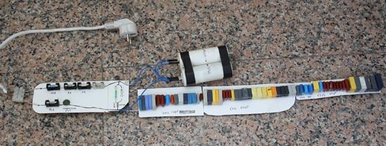 Circuito condensadores con enchufe