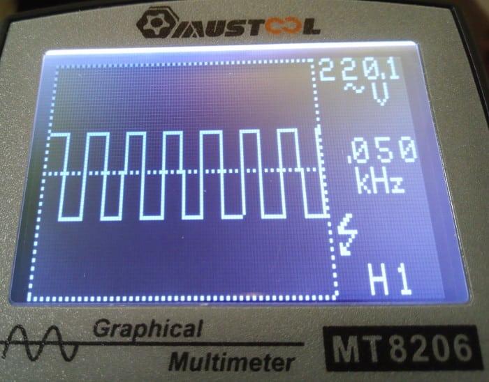 MT8206 onda cuadrada