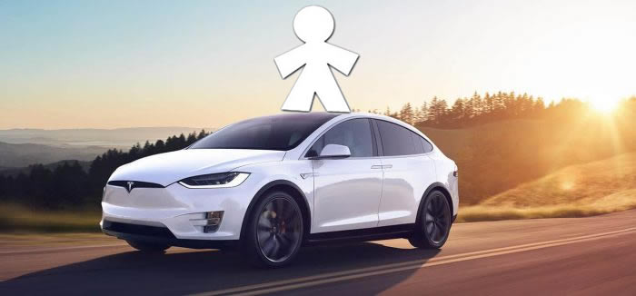 Tesla model X inocente