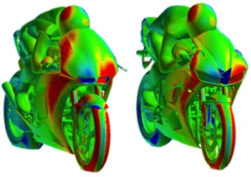 Aerodinámica moto