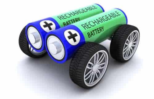 coche con dos pilas y 4 ruedas