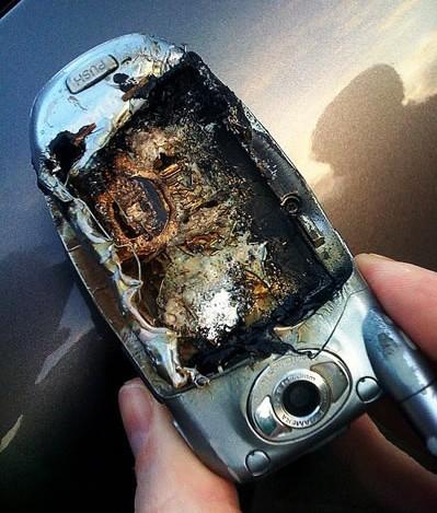 bateria quemada