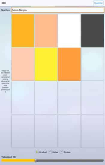 pantalla 5 app bombilla bluetooth