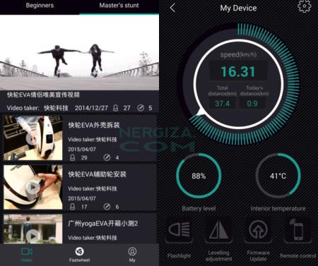 Captura de pantalla app FastWheel