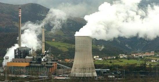 central térmica carbón Asturias contaminación gases efecto invernadero CO2