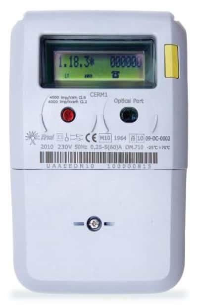 Nuevo contador inteligente, con pantalla LCD y botón de rearme