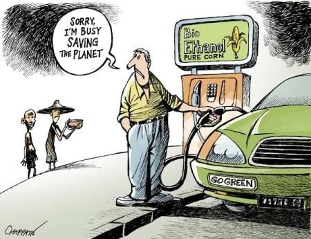 tira cómica sobre biocombustible