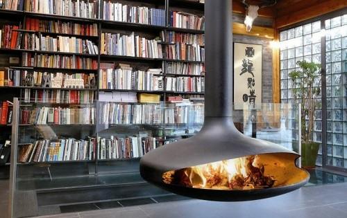 chimenea abierta diseño