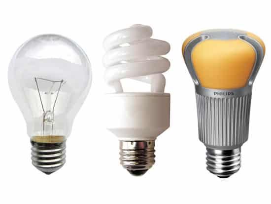 Evolución en la iluminación, desde la bombilla incandescente hasta la iluminación LED pasando por las CFL