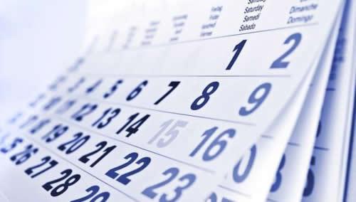 factura de la luz - calendario