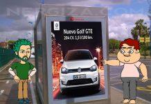 Golf GTE publicidad