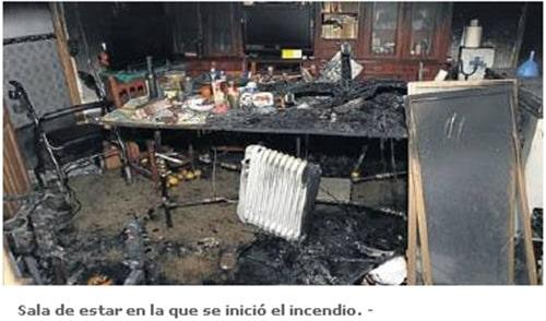 incendio radiador de aceite
