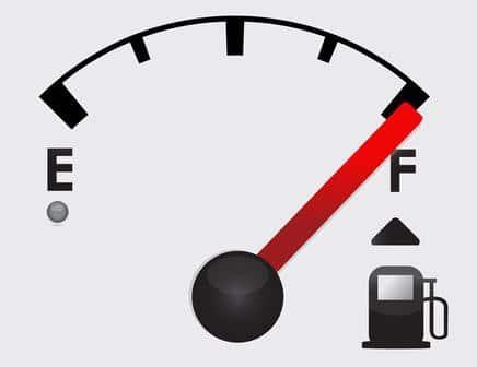 Indicador gasolina en coche