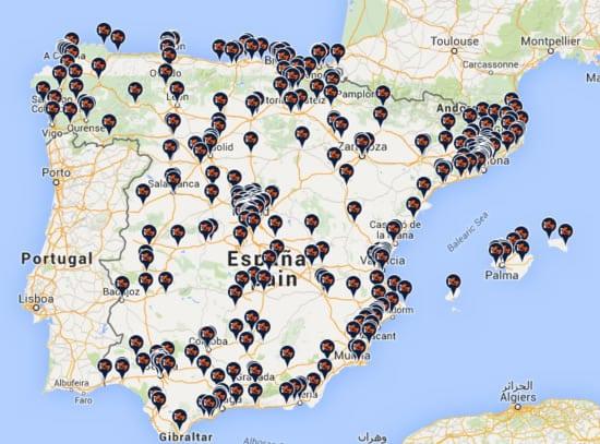 Mapa de gasolineras con GLP