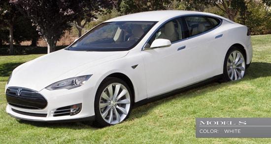 Tesla Model S blanco