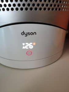 en este caso el display muestra un punto rojo junto a la temperatura deseada