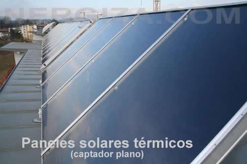 placa solar termica plana
