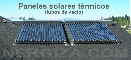 placa solar termica tubos de vacio