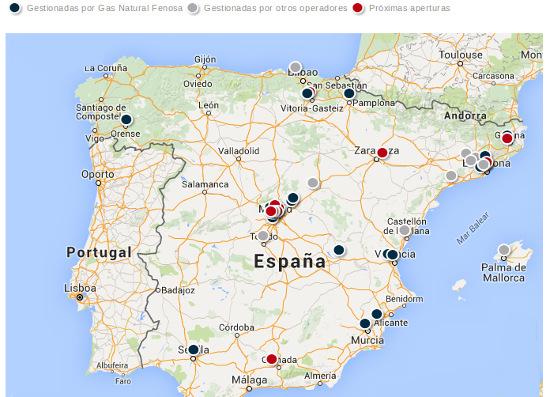 Mapa GNC España