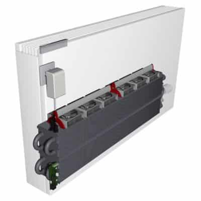 radiador de baja temperatura con ventiladores