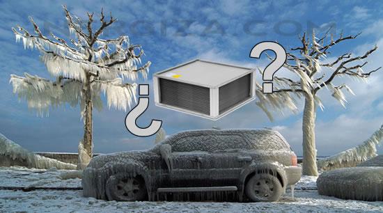 Recuperador calor coche