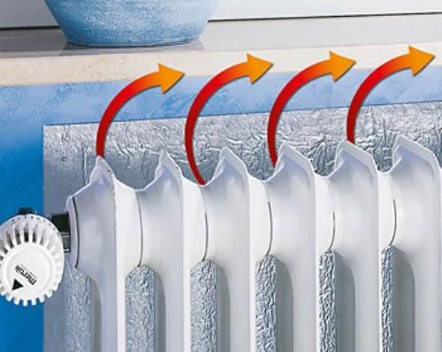 Paneles reflectantes para radiadores ahorran energ a for Laminas proteccion solar leroy merlin