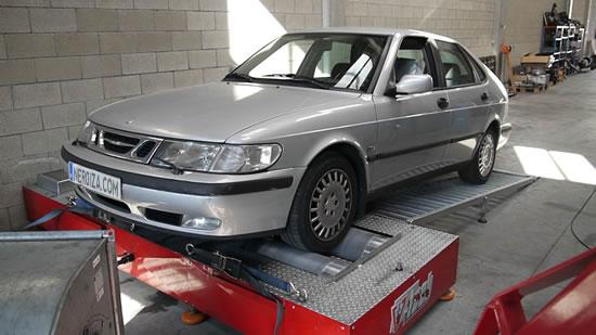 Saab 93 a GLP en banco de potencia