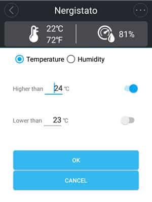 Sonoff temperatura