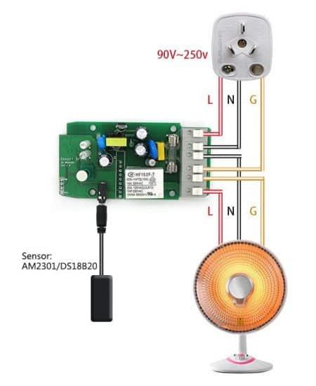Sonoff TH16 conexionado