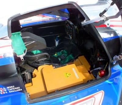 supercondensador en coche de carrreras