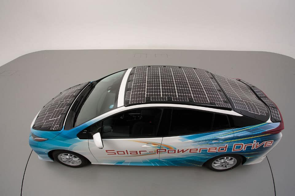 Toyota Prius con placas solares