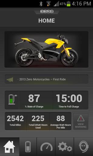 zero motorcycles app motos electricas